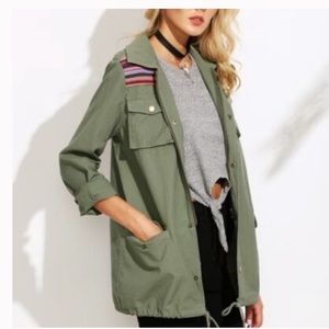 Alter'd State Boho Military Style Jacket